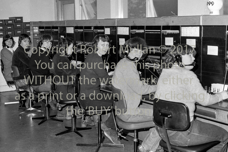 At Wicklow Telephone Exchange.  Circa 1980