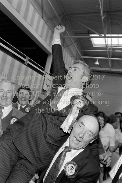Jim Ruttle at an election count in Wicklow - 1980s/90s
