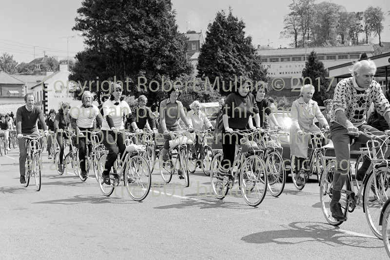 Charity cycle. Date 1979