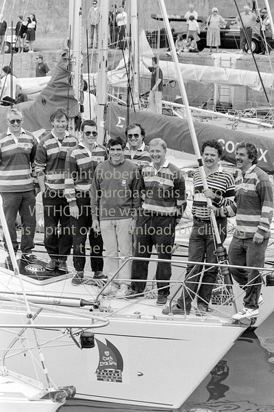Yachtsmen pictured in Wicklow Harbour - 1980s/90s
