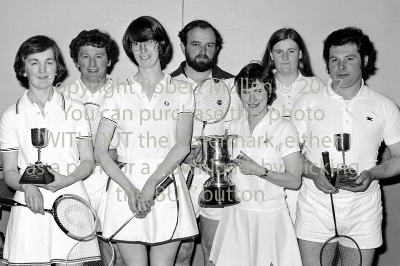 Badminton winners.  Early 1980s