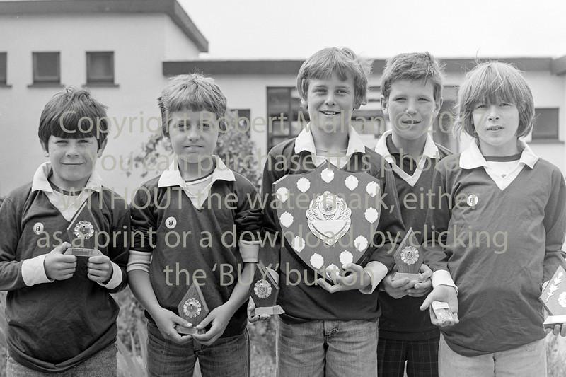 Wicklow Schoolboy winners.  Circa 1979