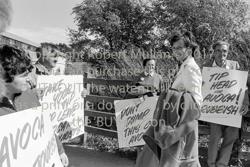 Cllr Susan Phillips talking to Avoca Dump protestors - late 1980s