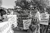 Cllr Susan Phillips talking to Avoca Dump protestors - late 1980s