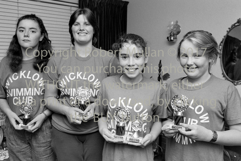 Wicklow Swimming Club winners - mid to late eighties