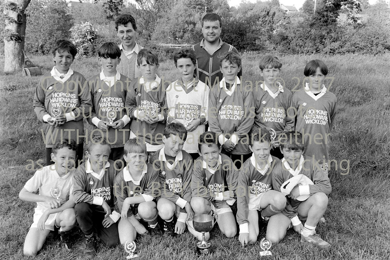 Schoolboys team from Wicklow - 1980s/90s