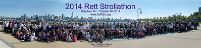 Rett Stroll participants on October 5th literally spanned the Manhattan skyline in support of our Silent Angels!