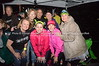Rett volunteers and runners taking shelter from the storm