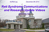 Rett Syndrome Communications & Research Update