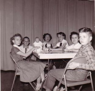 L-R: Lynn Post, Jack Rhodes, Cherrill Rose Linder, Judy Belding, Alice Ann Hines, Edwin Savage