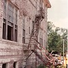 Fire escape which exited from Mrs. Break's room.