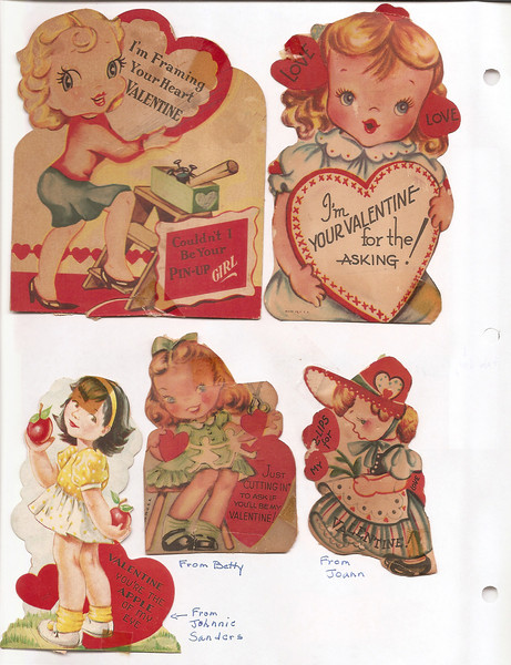 Betty Reynolds Valentines from 1st grade