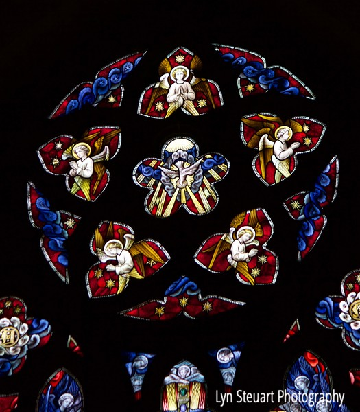 Stunning stained glass in the Cathedral Church of St. Andrew in Inverness