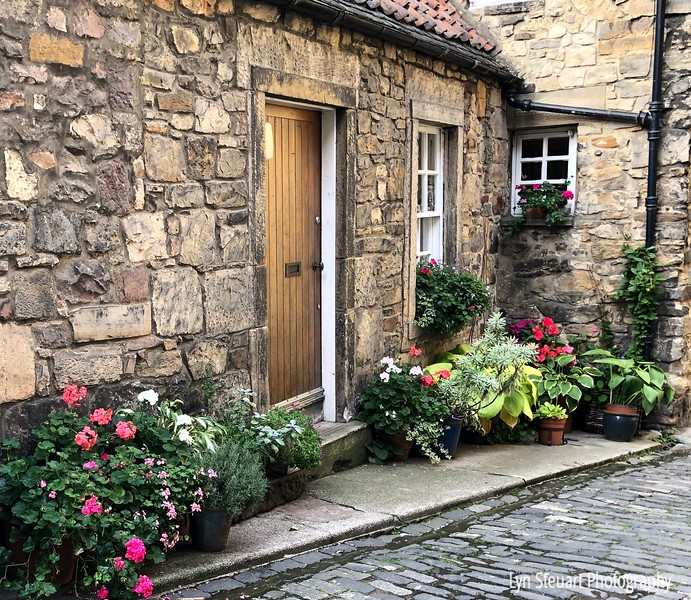 Quaint  home in Dean Village.  Always room for a flower garden!