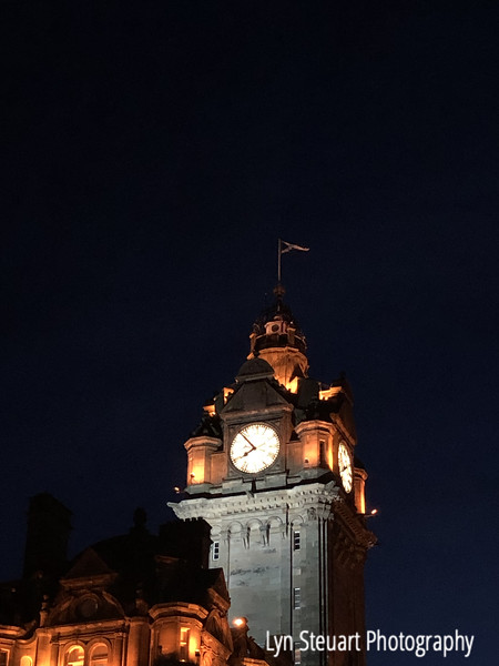 Clock tower above the Balmoral Hotel, Edinburgh