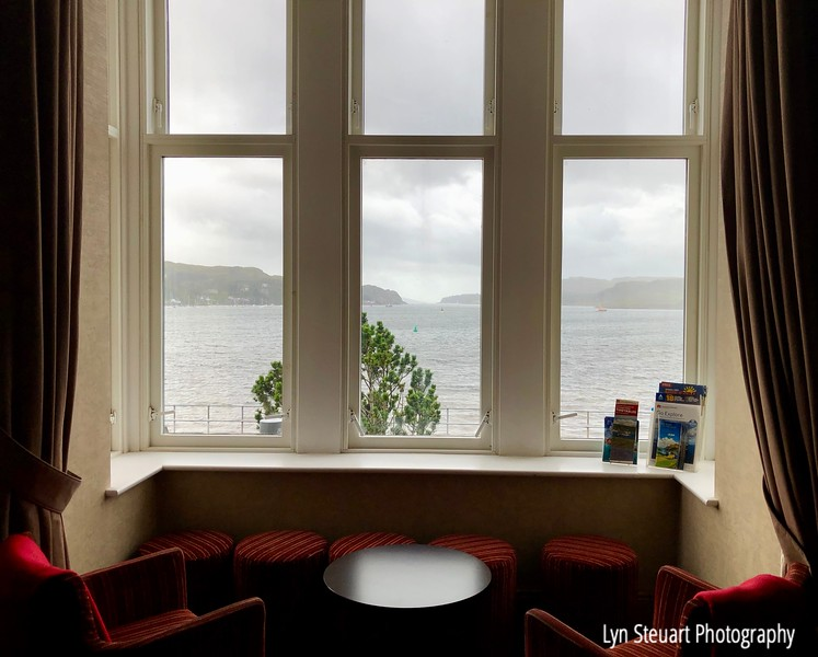 View from the window at the Oban hostel