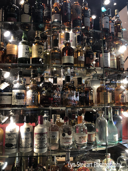 Scotland is know for it's distilleries of both Whisky and Gin!  One of many displays along the Royal Mile.