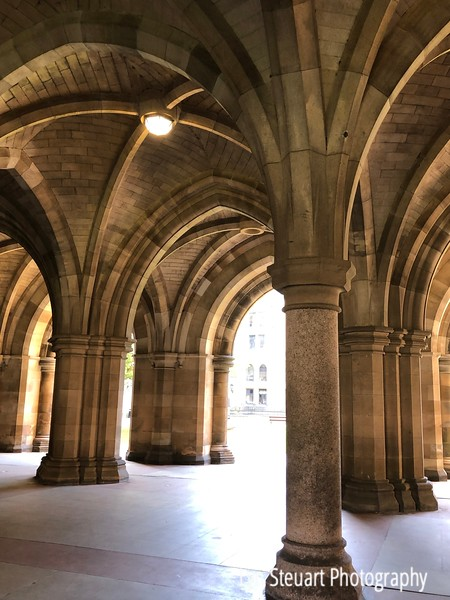 Cloisters at the University of Glasgow - seen in Harry Potter & Outlander