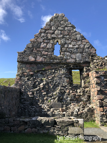 Ruins of the wall of the Nunnery at Iona Abbey