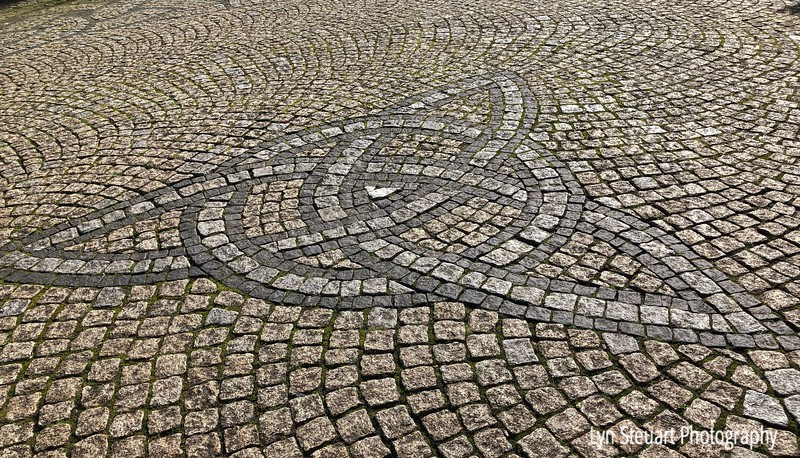 Celtic pattern in the road in Fort William