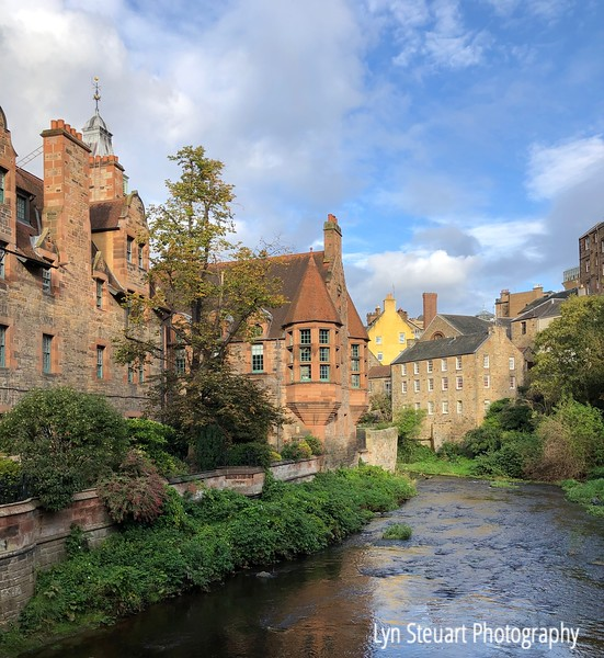 Dean Village. Edinburgh  on the river Leith (Water of Leith walkway)