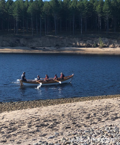 Rowers headed out from Findhorn Bay to the Moray Firth