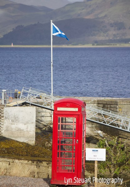 Roadside telephone on the road to Fort William