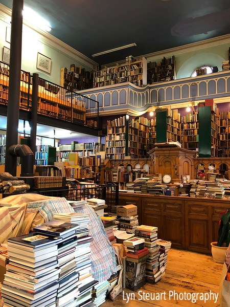 Leakey's Bookstore in Inverness.  Never been in a bookstore quite like this one!  Even has a wood burning stove!  Hope no sparks fly and start a fire in the midst of al this paper!!!!!
