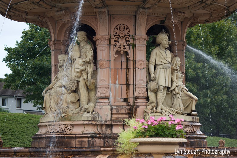 Section of The Doulton Fountain  in Glasgow- largest terra cotta fountain in the world