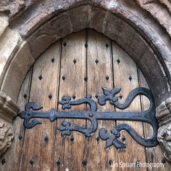 Wrought Iron decoration on Rosslyn chapel door