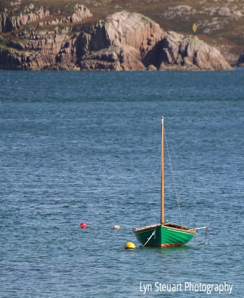 Sailboat in Finnaphort Bay, Isle of Iona