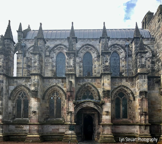 Rosslyn Chapel, Roslin, Scotland  (dates back to 1446) - still owned by the Rosslyn family  and is an active place of worship