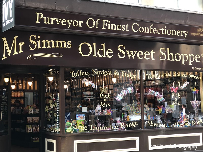 One of many shops selling a variety of sweets and treats!