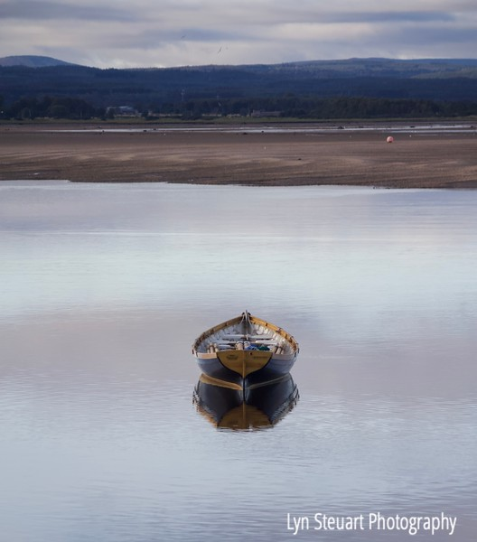 All was still on the waters of Findhorn Bay.  Enjoyed the variety of boats in the harbor.
