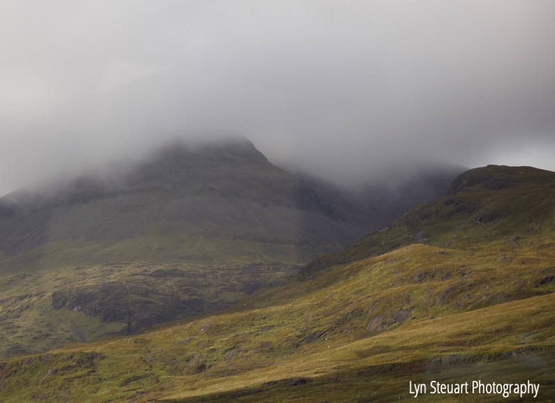 Mist covering the landscape on the Isle of Mull