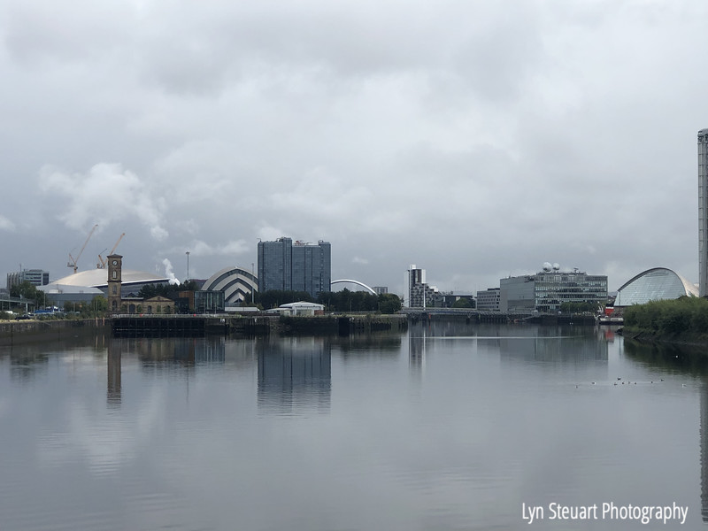 Glasgow skyline by the River Clyde