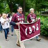 The class of 1976 processes during the parade.<br /> <br /> Reunion participants march with their respective class years in the annual Reunion Parade on Saturday June 11 2016.