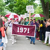 The class of 1971 processes during the parade.<br /> <br /> Reunion participants march with their respective class years in the annual Reunion Parade on Saturday June 11 2016.