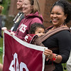 Starting in the historic Quad and processing onto Alumni Walk, Reunion participants march with their respective class years in the annual Reunion Parade on Saturday, June 11, 2016.