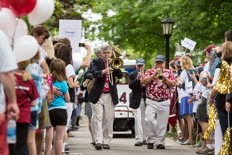 Reunion participants march with their respective class years in the annual Reunion Parade on Saturday June 11 2016.