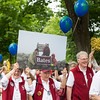 The class of 1966, celebrating their 40th reunion, process during the parade.<br /> <br /> Reunion participants march with their respective class years in the annual Reunion Parade on Saturday June 11 2016.
