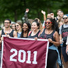 The class of 2011 processes during the parade.<br /> <br /> Reunion participants march with their respective class years in the annual Reunion Parade on Saturday June 11 2016.