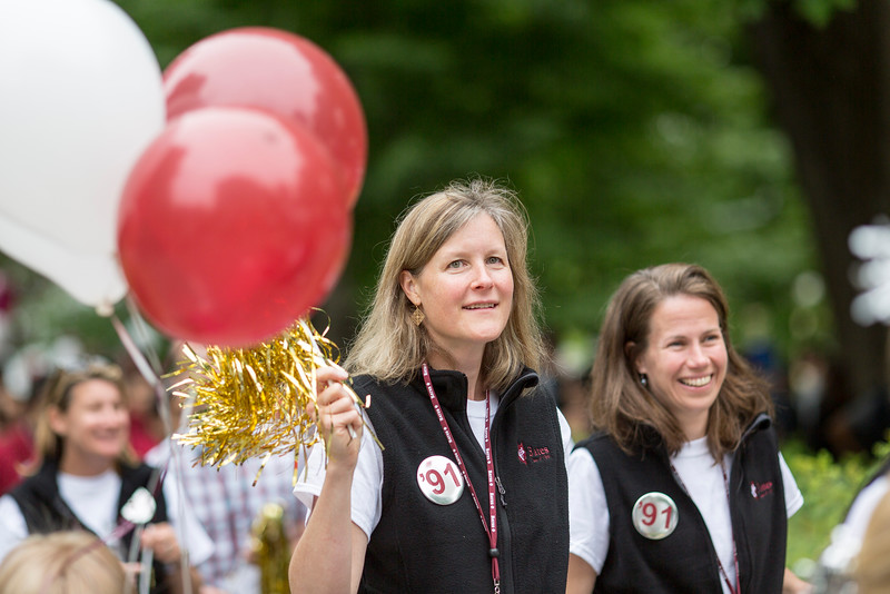 The class of 1991 processes during the parade.<br /> <br /> Reunion participants march with their respective class years in the annual Reunion Parade on Saturday June 11 2016.