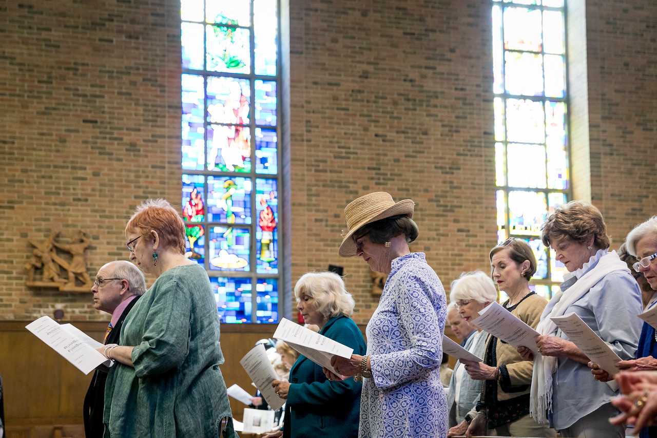 """June 4, 2017 -- Newton College reunion mass in Trinity Chapel. Photographed for Boston College by Caitlin Cunningham ( <a href=""""http://www.caitlincunningham.com"""">http://www.caitlincunningham.com</a>)."""
