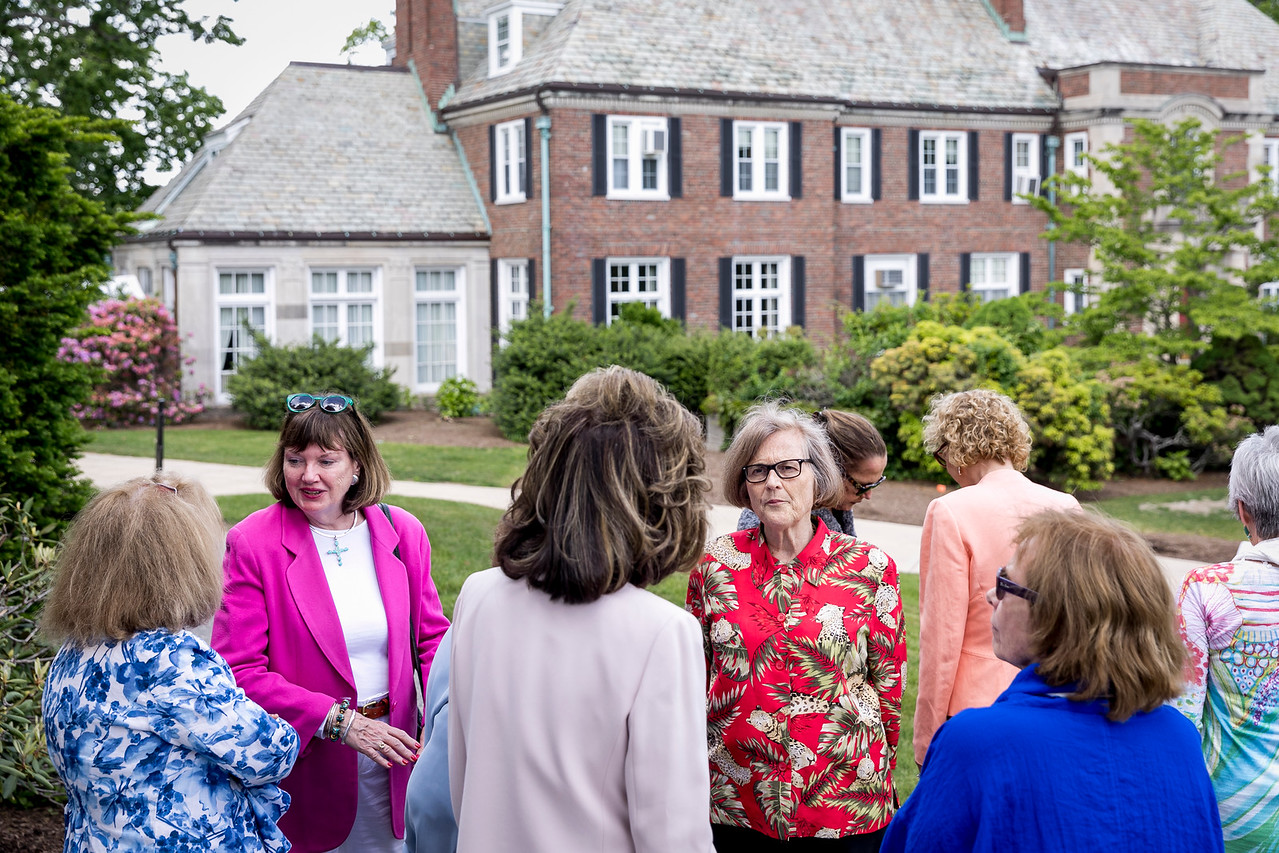 """June 4, 2017 -- Newton College's reunion garden party brunch. Photographed for Boston College by Caitlin Cunningham ( <a href=""""http://www.caitlincunningham.com"""">http://www.caitlincunningham.com</a>)."""