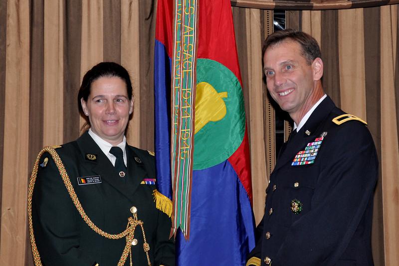 Lieutenant Colonel Martine Dierckx (Belgium) and Brigadier General Jeffrey E. Phillips (USA)