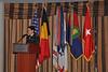 Lieutenant Colonel Martine Dierckx (Belgium) addresses the Association