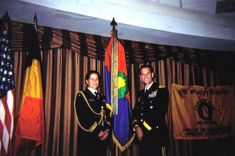 Lieutenant Colonel Martine Dierckx (Belgium) and Brigadier General Jeffrey E. Phillips