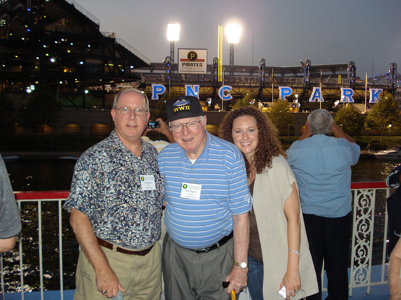 Tim Higgins, Jack Higgins, and Tim's daughter