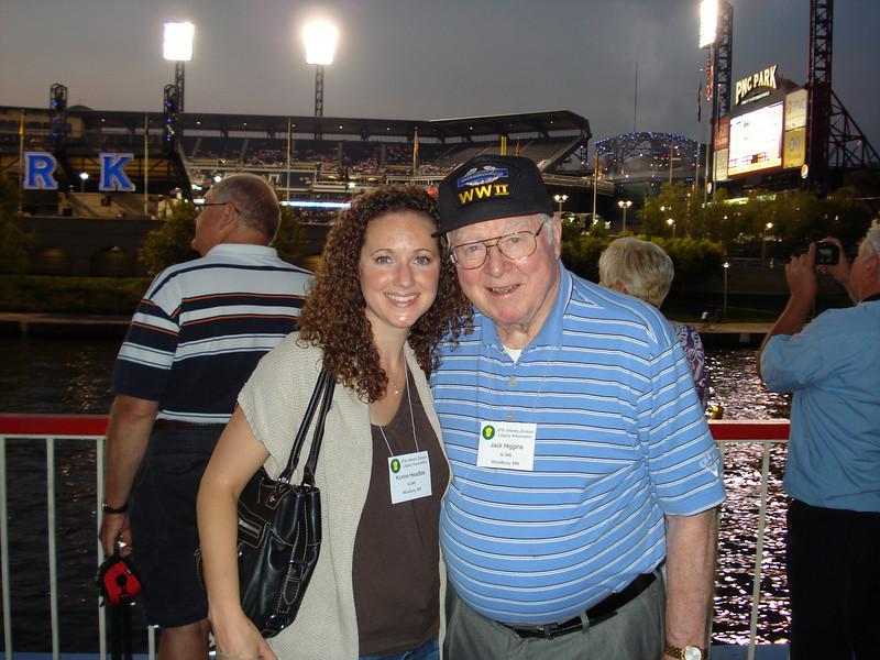 Jack Higgins and granddaughter